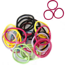 10 Hair Elastic Bobble Band Black Ponytail Ties Stretchy Girls Rubber up Holder
