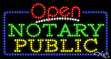 "New ""Open Notary Public"" 32x17 Solid/Animated Led Sign W/Custom Options 25542"