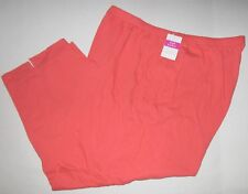 FRESH PRODUCE 3X Red CORAL Jersey Stretch Cotton Capris NWT New 3X