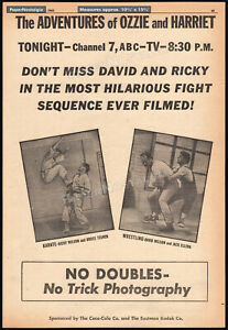 Adv. of OZZIE and HARRIET__Orig. 1961 Trade AD promo__RICKY NELSON__BRUCE TEGNER