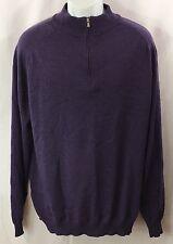 NORDSTROM Sweater Cardigan Mans Sz. XL 100% Extra Fine Merino Wool Purple EUC