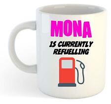Mona Es Actualmente Reabastecimiento Taza Rosa - Divertido,Regalo,Nombre,