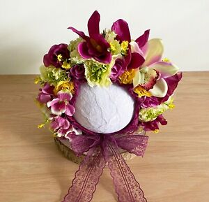 Sitter Size Floral Bonnet - Photography Photo Shoot Prop - Baby