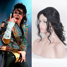 Hot Michael Jackson Cosplay Costume Party Wig Long Messy Curly Black Full Wigs