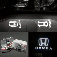 2x White Logo LED Door Light Laser Projector HD For Honda Accord Spirior Odyssey