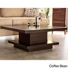 Coffee Bean Walnut Pagoda Coffee Table Console Home Living End Storage Space