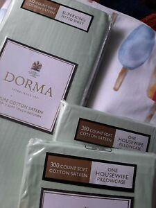 Dorma mint green super king fitted sheet and pillowcase pair