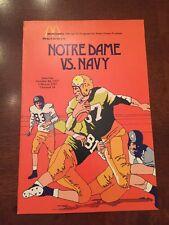 1977 McDonald's Official Football Program For Notre Dame Vs. Navy,Joe Montana