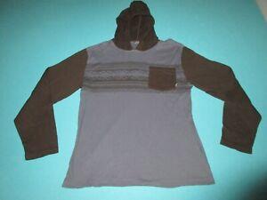 VANS Boys Blue Black Long Sleeve Hooded Shirt Size Extra Large XL