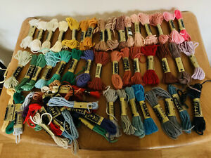Job Lot of Anchor Tapestry Wools - 39 Skeins, Many New and Complete!