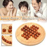 Wooden Fun Educational Board Game Solitaire Marble Classic Kid Game Toy Gift