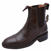 MENS BROWN LEATHER AMBLERS DEALER CHELSEA SMART ANKLE BOOTS SHOES SIZES 7-13
