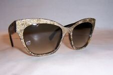 NEW ALEXANDER MCQUEEN SUNGLASSES AMQ 4261/S HAVANA/BROWN GRAY OFN-DB AUTHENTIC