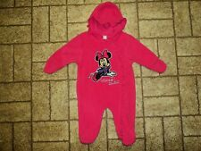 Disney Baby Minnie Mouse Hooded One Piece. Sz. 12 Mos.