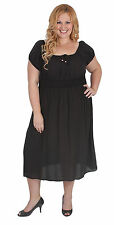 Empire Waist Casual Solid Plus Size Dresses for Women