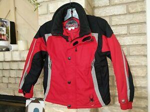 SPYDER Ski Snowboard Winter Jacket Kids Boys Size 10 Red and Black