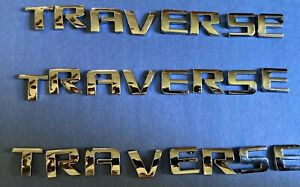 Chevrolet Traverse Lift Gate Door Emblem Letters Chrome Nameplate OEM Used GM