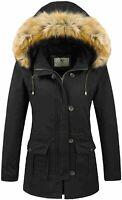 Uoiuxc Women's Winter Coat Warm Puffer Thicken Parka Jacket, Black, Size Large P