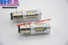 For Yamaha Banshee 350 YFZ350 White LED Headlights Bulbs 80W ATV (Pack of 2)