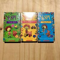 Scholastic I Spy VHS Tape (Lot of 3) - A Rockin' Bronco, A Thing That Flings