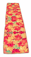 Fall leaf Shades of Orange Table Runner 17x72 inches by Melrose Int