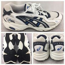 Asics mens Athletic Shoes  size 11 US EUR 45  TK4OG  White Blue Trim F150605