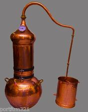 Column Alembic Copper 20 L distillation system Copper