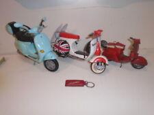 2OF3] VESPA 1959 BEACH MODEL SCOOTER UNION JACK TIN TOY + BARBIE + 3 vespa bags