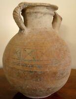 ANCIENT ARTEFACT. INDUS VALLEY POTTERY JUG. ca.1300 B.C. 30cm ht. Original Paint