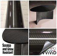 VviViD Black Epoxy High Gloss Carbon Fiber Vinyl 6ft x 5ft professional film Xpo