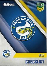 2017 NRL Traders Base Card (091) EELS Check List