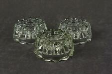 Vintage 3Pc Lot Clear Ribbed Taper & Votive Candle 4 X 1-7/8 Glass Candleholders