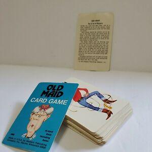 Vintage 1975 Old Maid Card Game Complete 45 Card Deck