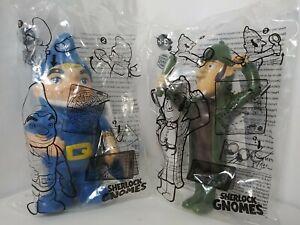 Lot of 2 2017 Burger King Sherlock Gnomes Gnomeo and Sherlock Happy Meal Toy NIP