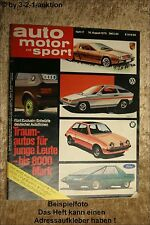AMS Auto Motor Sport 17/75 Opel Kadett City Fiat 128 3 P Buick Regal