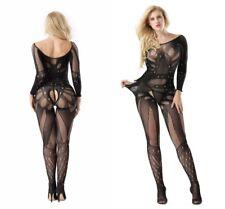 Women Sexy Mesh Fishnet Body Stockings Plus Size Long Sleeve Lingerie Underwear