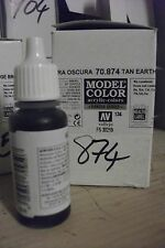 MODEL HOBBY PAINT 17ml BOTTLE VAL874 	 AV Vallejo Model Color - US Tan Earth