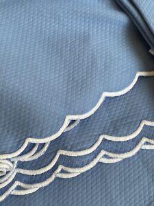 Authentic Matouk King Mtelasse Cover Blue Pique Coverlet WW670