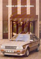 Nissan Stanza Maxima Prospekt 1981 brochure Autoprospekt prospectus catalogue