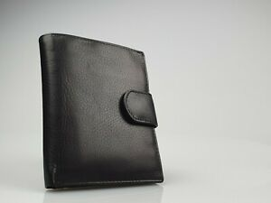 Lichfield Leather Black Trifold Wallet (105mm x 120mm) New In Box - 2031 17-1
