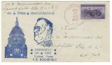 Cacheted cover, Roosevelt Inauguration, Czubay cachet, 1945