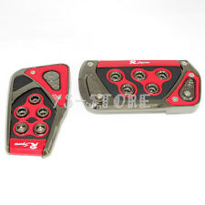 Universal Racing Sports Red Non-Slip Automatic Car Gas Brake Pedals Pad Cover