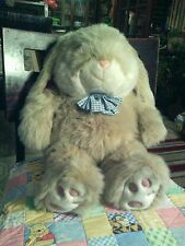 "J. C. Penney Thick Plush Bunny Rabbit Blue/White Bow Tie Easter 24""."