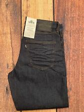 LEVI'S Made and Crafted Draft Wide Taper Rigid Rinse Dark Blue Jeans Size 32