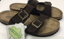 Woodstock Bert Mens Suede Leather sandals Double Strap Slip On US Size 11 New