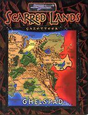 GHELSPAD GAZETTER SCARRED LANDS + MAP NM! TSR AD&D D&D