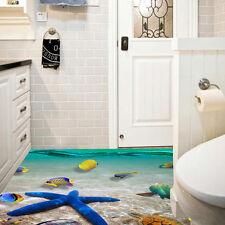 3D Beach Floor/Wall Sticker Removable Mural Decals Vinyl Art Living Room Decor A