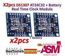 2pcs DS1307 AT24C32 I2C RTC MODULO RELOJ para AVR ARM PIC para Arduino