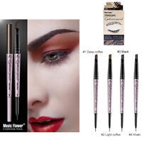 2 in 1 Waterproof Eyebrow Tint Pen Long Lasting Eyeliner Pencil Music Flower WG