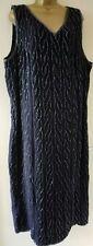 Ann Harvey Ladies Black Beaded Party Dress Size 24